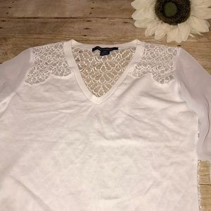 French Connection Sheer Sleeve Sweater